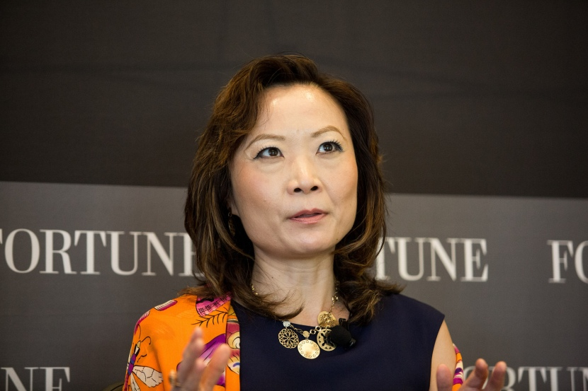 This gorgeous woman is Jing Ulrich, managing director and chairman of global markets for JP Morgan China. Her husband is American. (Photo courtesy Fortune Live Media)